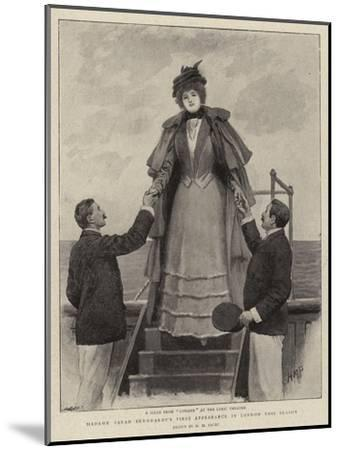 Madame Sarah Bernhardt's First Appearance in London This Season-Henry Marriott Paget-Mounted Giclee Print
