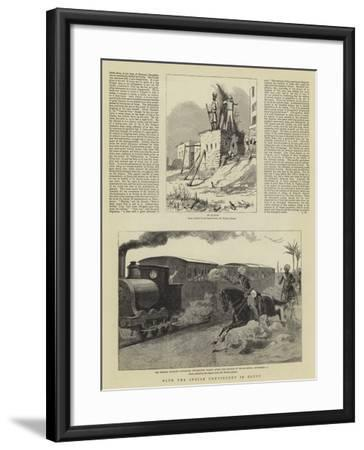 With the Indian Contingent in Egypt-Herbert Johnson-Framed Giclee Print