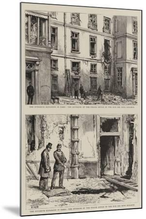 The Dynamite Explosion in Paris-Henry William Brewer-Mounted Giclee Print
