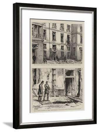 The Dynamite Explosion in Paris-Henry William Brewer-Framed Giclee Print