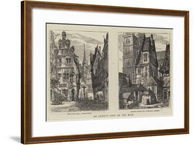 An Artist's Tour on the Main-Henry William Brewer-Framed Giclee Print