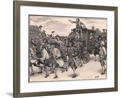 The Mob Releasing Mr Wilkes on His Way to Prison Ad 1768-Henry Marriott Paget-Framed Giclee Print