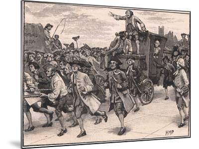The Mob Releasing Mr Wilkes on His Way to Prison Ad 1768-Henry Marriott Paget-Mounted Giclee Print