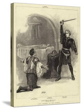 King Arthur at the Lyceum-Henry Marriott Paget-Stretched Canvas Print