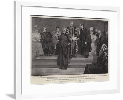 The Royal Visit to Wales-Henry Marriott Paget-Framed Giclee Print
