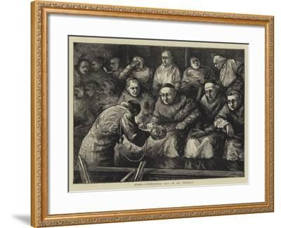 Rome, Candlemas Day in St Peter'S-Henry Woods-Framed Giclee Print