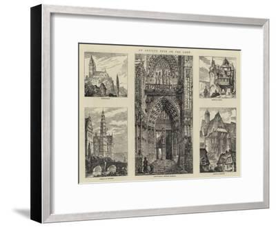 An Artist's Tour on the Lahn-Henry William Brewer-Framed Giclee Print