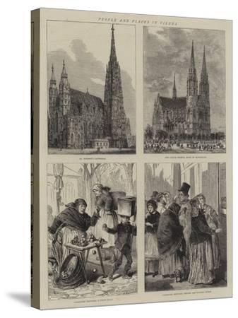 People and Places in Vienna-Henry William Brewer-Stretched Canvas Print