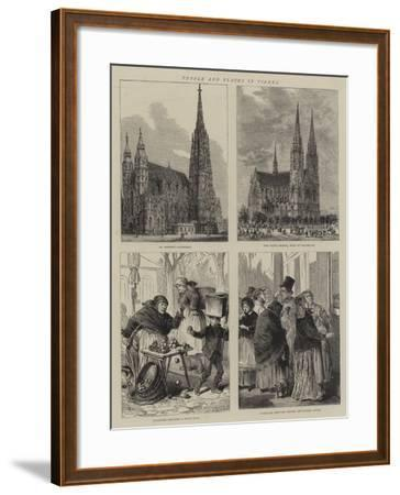 People and Places in Vienna-Henry William Brewer-Framed Giclee Print