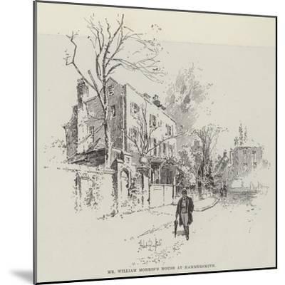 Mr William Morris's House at Hammersmith-Herbert Railton-Mounted Giclee Print