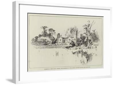 Primkenau, Near Sagan, Silesia, the Residence of the German Empress before Her Marriage-Herbert Railton-Framed Giclee Print