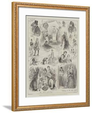 Sketches at the Rehearsal for the Tableaux of the Royal Institute Costume Ball-Henry Stephen Ludlow-Framed Giclee Print