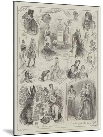 Sketches at the Rehearsal for the Tableaux of the Royal Institute Costume Ball-Henry Stephen Ludlow-Mounted Giclee Print