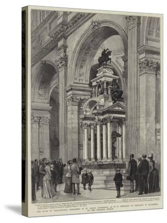 The Duke of Wellington's Monument in St Paul's Cathedral-Henry William Brewer-Stretched Canvas Print