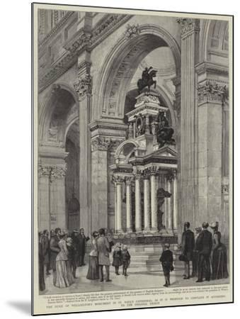 The Duke of Wellington's Monument in St Paul's Cathedral-Henry William Brewer-Mounted Giclee Print