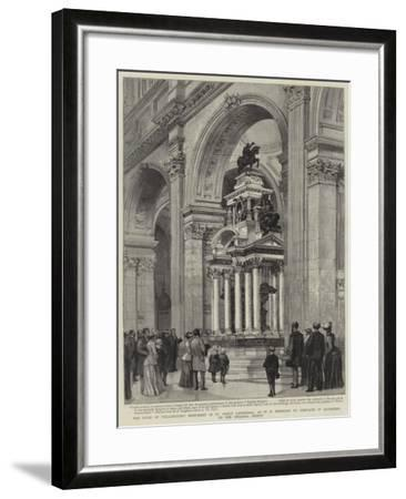 The Duke of Wellington's Monument in St Paul's Cathedral-Henry William Brewer-Framed Giclee Print