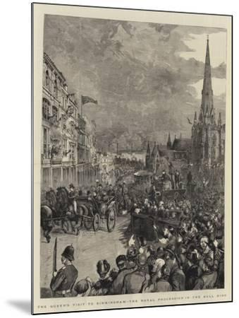 The Queen's Visit to Birmingham, the Royal Procession in the Bull Ring-Henry William Brewer-Mounted Giclee Print