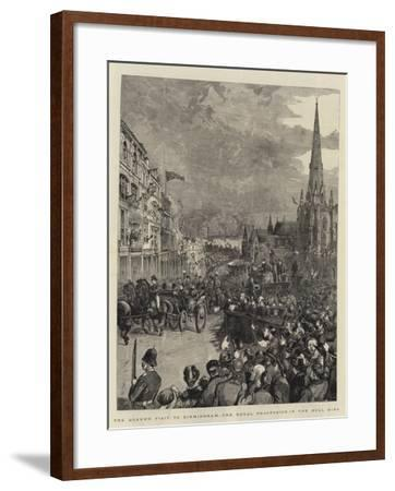 The Queen's Visit to Birmingham, the Royal Procession in the Bull Ring-Henry William Brewer-Framed Giclee Print