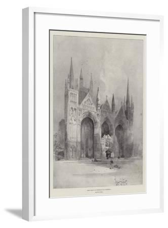 West Front of Peterborough Cathedral-Herbert Railton-Framed Giclee Print
