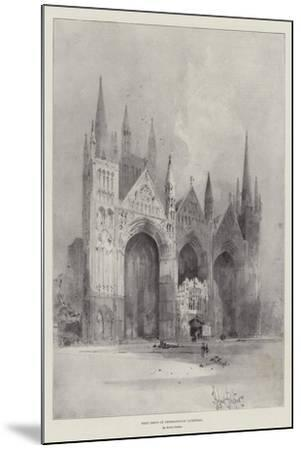 West Front of Peterborough Cathedral-Herbert Railton-Mounted Giclee Print
