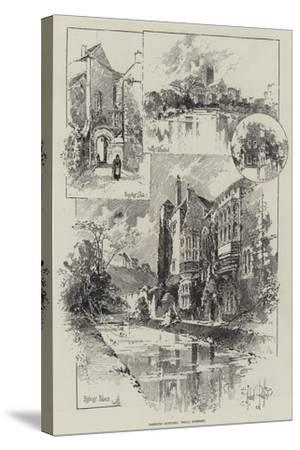Rambling Sketches, Wells, Somerset-Herbert Railton-Stretched Canvas Print