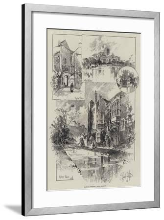 Rambling Sketches, Wells, Somerset-Herbert Railton-Framed Giclee Print