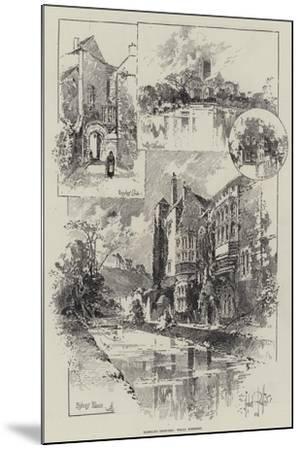 Rambling Sketches, Wells, Somerset-Herbert Railton-Mounted Giclee Print