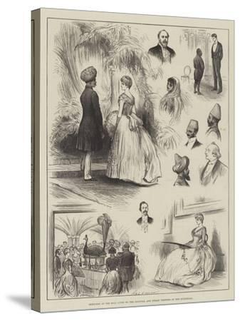 Sketches at the Ball Given to the Colonial and Indian Visitors at the Guildhall-Henry Stephen Ludlow-Stretched Canvas Print