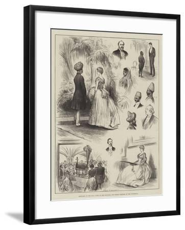 Sketches at the Ball Given to the Colonial and Indian Visitors at the Guildhall-Henry Stephen Ludlow-Framed Giclee Print