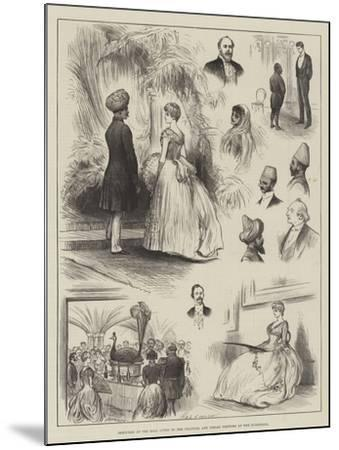Sketches at the Ball Given to the Colonial and Indian Visitors at the Guildhall-Henry Stephen Ludlow-Mounted Giclee Print