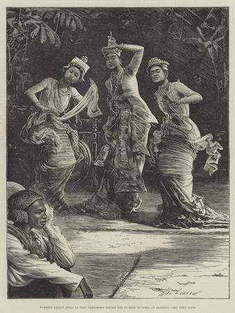 Burmese Ballet Girls as They Performed before the Viceroy of India at Rangoon-Henry Stephen Ludlow-Framed Giclee Print