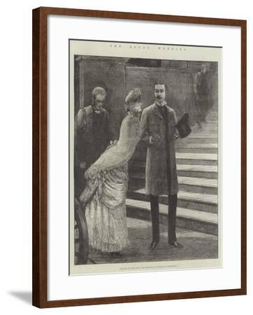 The Royal Wedding, Arrival of the Duke and Duchess of Albany at Claremont-Henry Stephen Ludlow-Framed Giclee Print