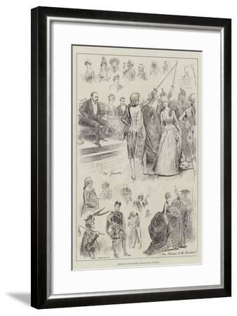 Sketches at the Painters' Masque, Royal Institute-Henry Stephen Ludlow-Framed Giclee Print