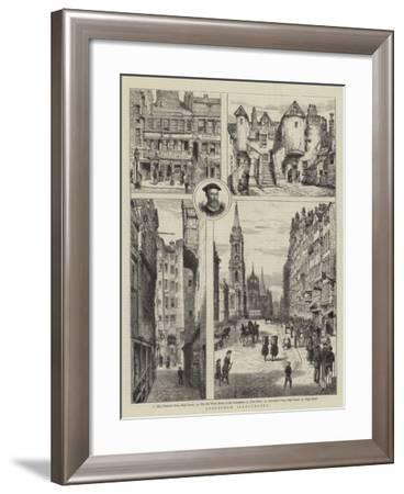 Edinburgh Illustrated-Henry William Brewer-Framed Giclee Print