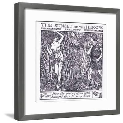 How the Giving of an Apple Brought War to Troy-Herbert Cole-Framed Giclee Print