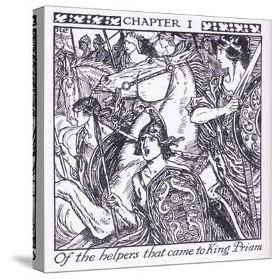 Of the Helpers Who Came to King Priam-Herbert Cole-Stretched Canvas Print