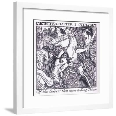 Of the Helpers Who Came to King Priam-Herbert Cole-Framed Giclee Print