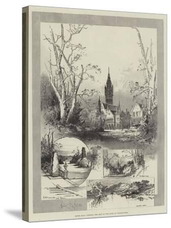 Eaton Hall, Chester, the Seat of the Duke of Westminster-Herbert Railton-Stretched Canvas Print
