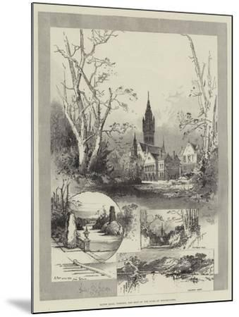 Eaton Hall, Chester, the Seat of the Duke of Westminster-Herbert Railton-Mounted Giclee Print