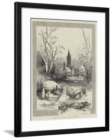 Eaton Hall, Chester, the Seat of the Duke of Westminster-Herbert Railton-Framed Giclee Print