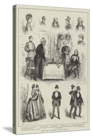 Sketches from The Magistrate at the Court Theatre-Henry Stephen Ludlow-Stretched Canvas Print
