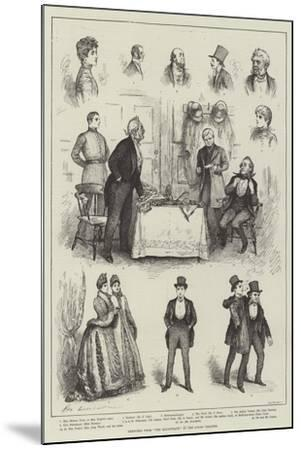 Sketches from The Magistrate at the Court Theatre-Henry Stephen Ludlow-Mounted Giclee Print