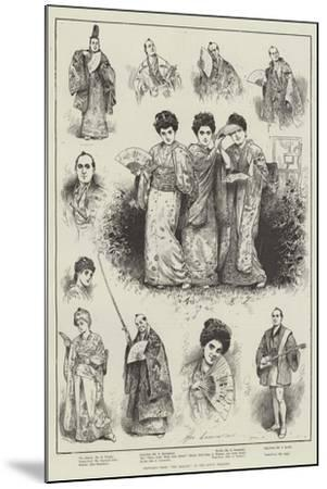 Sketches from The Mikado at the Savoy Theatre-Henry Stephen Ludlow-Mounted Giclee Print