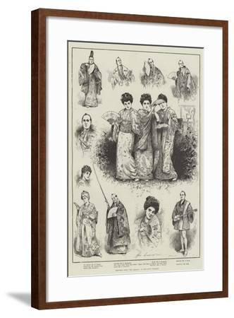 Sketches from The Mikado at the Savoy Theatre-Henry Stephen Ludlow-Framed Giclee Print