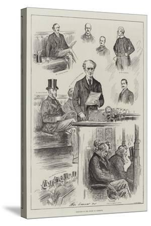 Sketches in the House of Commons-Henry Stephen Ludlow-Stretched Canvas Print