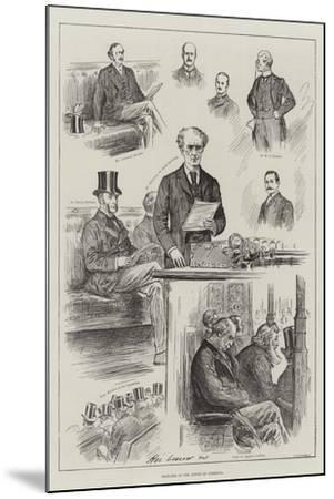 Sketches in the House of Commons-Henry Stephen Ludlow-Mounted Giclee Print