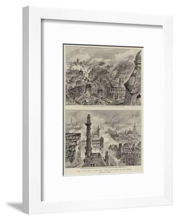 The Great Fire in the City, Bird'S-Eye Views of the Ruins-Henry William Brewer-Framed Giclee Print