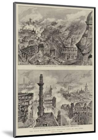 The Great Fire in the City, Bird'S-Eye Views of the Ruins-Henry William Brewer-Mounted Giclee Print