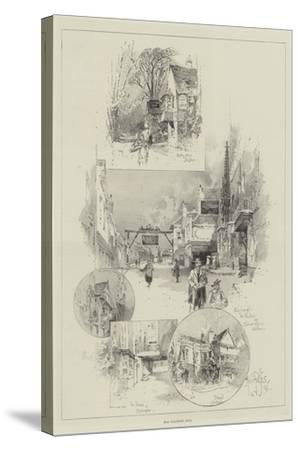 Old Coaching Inns-Herbert Railton-Stretched Canvas Print