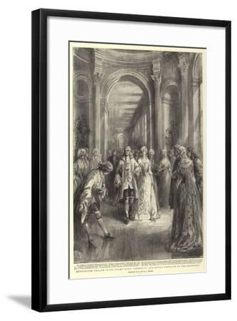 Kensington Palace in its Palmy Days, George II and Queen Caroline in the Orangery-Henry William Brewer-Framed Giclee Print